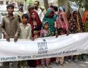 حیدر آباد: ہیومن رائٹس کمیشن آف پاکستان کے زیر اہتمام زمیندار کے خلاف ..
