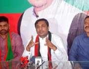 فیصل آباد: پاکستان تحریک انصاف حلقہPP-111 سے امیدوار کامران گیلانی پریس ..