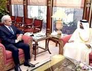 اسلام آباد: نگران وزیراعظم جسٹس (ر) ناصر الملک سے یو اے ای کے سفیر ہماد ..