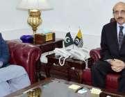 اسلام آباد: صدر آزاد کشمیر سردار مسعود خان سے رکن قانون ساز اسمبلی عبدالرشید ..