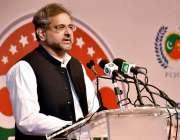 کراچی: وزیراعظم شاہد خاقان عباسی سی پیک اجلاس کی افتتاحی تقریب سے خطاب ..
