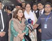 لاہور: تحریک انصاف کی سینیٹ نشست کی امیدوار ڈاکٹر زرقا سہروردی تیمور ..