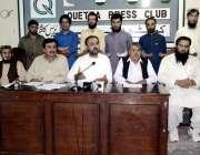 کوئٹہ: انجمن تاجران بلوچستان کے سینئر نائب صدر حضرت علی اچکزئی، عبدالرحیم ..