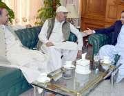 کوئٹہ: وزیراعلیٰ بلوچستان میر عبدالقدوس بزنجو سے صوبائی مشیر میر امان ..