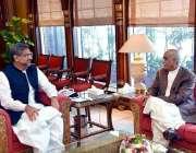 اسلام آباد: وزیراعظم شاہد خاقان عباسی سے اپوزیشن لیڈر سید خورشید شاہ ..