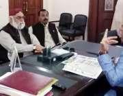 لاہور: صوبائی وزیر انسانی حقوق و اقلیتی امور اعجاز عالم سے قومی امن ..