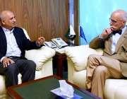 اسلام آباد: چیئرمین بورڈ آف انویسٹمنٹ سے یورپی یونین کے سفیر جینز فرینکوئس ..