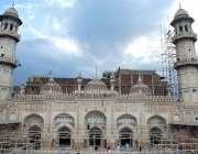 پشاور: محبت خان مسجد کے بیرونی حصے کا خوبصورت منظر۔
