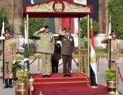 راولپنڈی: آرمی چیف جنرل قمر جاوید باجوہ کو مصر کے سرکاری دورہ کے موقع ..