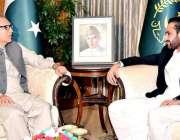 اسلام آباد: صدر مملکت ڈاکٹر عارف علوی سے قائمقام گورنر بلوچستان عبدالقدوس ..