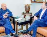 لاہور: نامزد گورنر پنجاب چوہدری محمد سرور سے برطانوری ہائی کمشنر تھامس ..