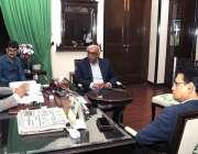 کراچی: نگران وزیراعلیٰ فضل الرحمن اعلیٰ سطحی اجلاس کی صدارت کر رہے ..