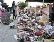 اسلام آباد: وفاقی دارالحکومت میں دو خواتین گھر کی کفالت کے لیے سڑک کنارے ..