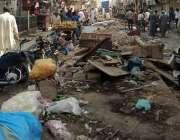 کراچی: شاہ فیصل کالونی میں سبزی منڈی جو تجاوزات سے گھری ہوئی سے اسے ..