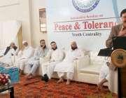 کراچی: جامعہ بنوریہ عالمیہ سائٹ کے دورہ کے موقع پر طلبہ نیکٹا کے قومی ..
