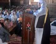 لاہور: ڈاکٹر سعید عنایت اللہ بادشاہی مسجد میں جمعہ کے اجتماع سے خطاب ..