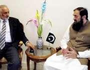 اسلام آباد: وزیر مملکت انجینئر محمد بلیغ الرحمن سے ریکٹر نیشنل یونیورسٹی ..