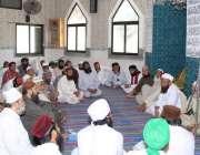 لاہور: سنی تحریک کے ڈویژنل صدر مولانا مجاہد عبدالرسول کلمہ والی مسجد ..
