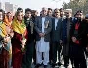 اسلام آباد: میئرراولپنڈی سردار نسیم خان، شازیہ رضوان اور کارکنوں کے ..