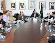 اسلام آباد: وزیرمملکت سید علی ظفراعلیٰ سطحی اجلاس کی صدارت کر رہے ہیں۔