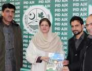 مظفر آباد: آزاد کشمیر کی سیکرٹری اطلاعات مدحت شہزاد کو اسسٹنٹ ڈائریکٹر ..