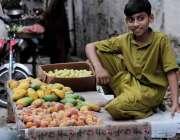 اسلام آباد: وفاقی دارالحکومت میں کمسن بچہ ریڑھی پر پھل سجائے گاہکوں ..