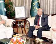 اسلام آباد: صدر مملکت ممنون حسین سے نگران وزیر تعلیم اینڈ پروفیشنل ..