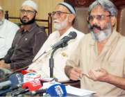 لاہور: آل پاکستان کیمسٹ ریٹیلرز ایسوسی ایشن کے عہدیداران پریس کانفرنس ..