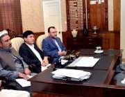 پشاور: وزیر اعلیٰ خیبر پختونخوا محمود خان سے اراکین اسمبلی ملاقات کررہے ..