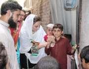 لاہور: تحریک انصاف ویمن ونگ ایگزیکٹو کونسل کی ممبر مسرت چیمہ حلقہ این ..