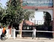 راولپنڈی: سیٹلائٹ ٹاؤن پوسٹ گریجوایٹ کالج فار وومن کے ہاسٹل میں پر ..