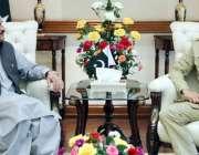 لاہور: وزیر اعلیٰ پنجاب سردار عثمان بزدار سے کور کمانڈر لاہور لیفٹیننٹ ..