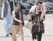 لاہور: تحریک انصاف کی رکن اسمبلی سعدیہ سہیل رانا پنجاب اسمبلی کے اجلاس ..