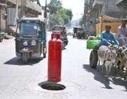 حیدر آباد: الرحیم شاپنگ سنٹر روڈ پر کھلا مین ہو انتظامیہ کی توجہ کا ..