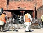 لاہور: پاکستان سپر لیگ سیزن تھری کے میچز کے حوالے سے قدافی اسٹیڈیم کے ..