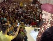 حیدر آباد: پاکستان سنی تحریک کے سربراہ ثروت اعجاز قادری پھلیلی میں ..