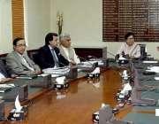 اسلام آباد: وزیر خزانہ ڈاکٹر شمشاد اختر ایک محکمانہ اجلاس کی صدارت ..