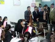 لاہور: صوبائی وزیر سکولز ایجوکیشن رانا مشہود احمد خاں گورنمنٹ آرمی ..