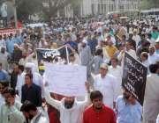 لاہور: کیمسٹ ایسوسی ایشن کے زیر اہتمام میڈیکل سٹور مالکان ڈرگ ایکٹ ..