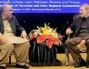 تہران: قومی اسمبلی کے سپیکر اسد قیصر اپنے ایرانی ہم منصب ڈاکٹر علی لاریجانی ..