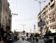 حیدر آباد: فلائی اوور امریکہ ہسپتال شاہراہ کی سٹریٹ لائٹس دن دن کے اوقات ..