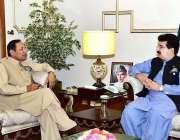 اسلام آباد: قائمقام صدر محمد صادق سنجرانی سے سینیٹر دلاور خان ملاقات ..