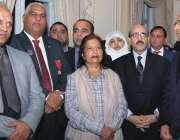 لندن: صدر آزاد جموں و کشمری سردار مسعود خان کاپاکستان ہائی کمیشن میں ..