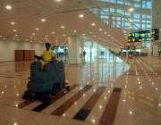 اسلام آباد: نئے تعمیر ہونیوالے اسلام آباد انٹر نیشنل ایئر پورٹ کے اندرونی ..