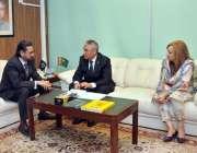 اسلام آباد: وزیر مملکت و چیئرمین انویسٹمنٹ بورڈ نعیم زمیندار سے ترکمانستان ..