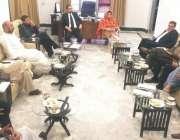 پشاور: وزیر خزانہ تیمور جھگڑا پبلک پرائیویٹ پارٹنر شپ ایکٹ کے جائزہ ..