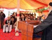 راولپنڈی: وفاقی وزیر برائے پوسٹل سروسز مولانا امیر زمان بخاری جی پی ..