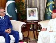 اسلام آباد: صدر مملکت ڈاکٹر عارف علوی سے مراکو کے سفیر محمد کارمونے ..