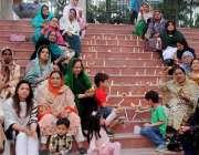 راولپنڈی: مسلم لیگی خواتین یوم پاکستان کے حوالے سے پریس کلب کے باہر ..