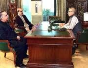 اسلام آباد: صدر مملکت عارف علوی سے گورنر سندھ عمران اسماعیل اور وزیر ..